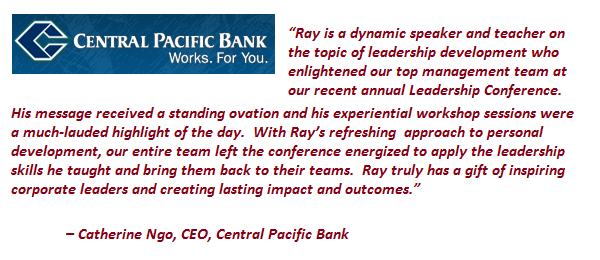 Central Pacific Bank testimonial for Ray Jefferson